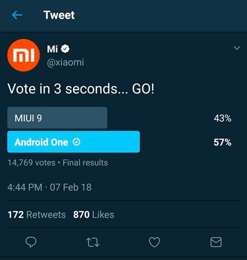 Xiaomi удалила результаты опроса, в котором «чистый» Android обошёл MIUI»
