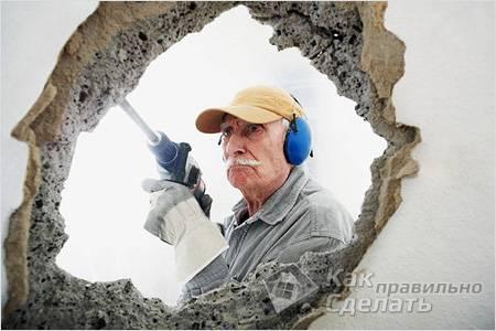 Как сломать бетонную стену - демонтаж бетонной стены