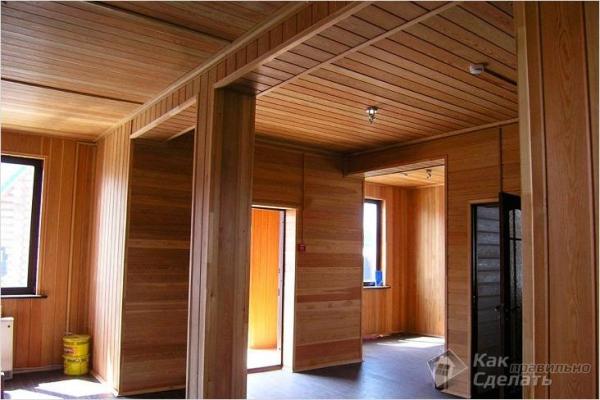 Как крепить вагонку на потолок - отделка потолка (+фото)