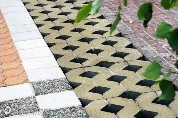Как укладывать газонную решетку - самостоятельная укладка
