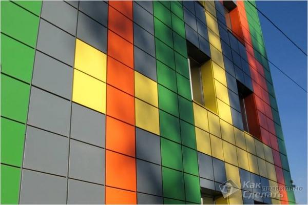 Облицовка фасада металлокассетами - технология монтажа металлокассет