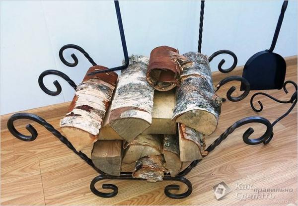 Как сделать дровницу своими руками - на даче, для дома