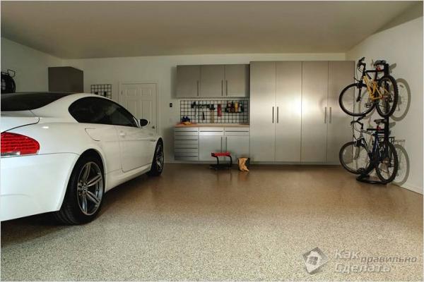 Пол в гараже своими руками - бетонный, деревянный, наливной