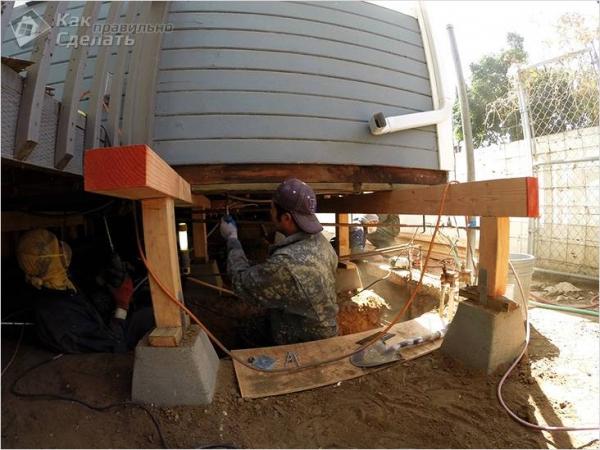 Как залить фундамент под дом своими руками + фото, схемы
