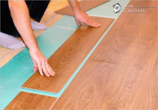 Укладка ламината на неровный пол - как укладывать ламинат по кривому полу