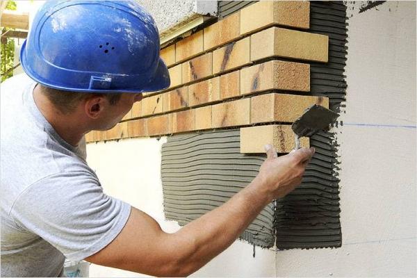 Как класть клинкерную плитку на стену, ступеньки, цоколь - укладка клинкера