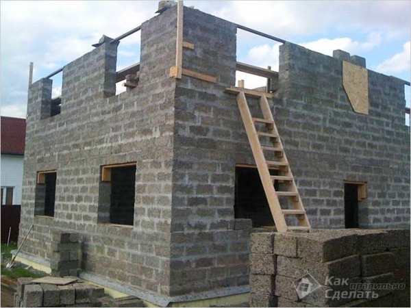 Дом из арболита своими руками - строительство домов из арболитовых блоков + фото