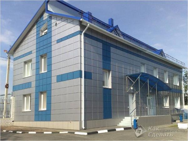 Облицовка фасада металлокассетами - технология монтажа металлокассет (+фото)