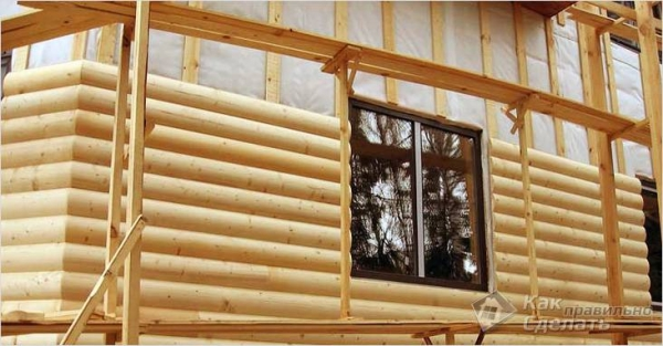 Как обшить дом блокхаусом - имитация бруса на фасаде