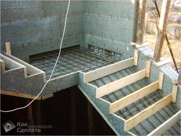 Лестница из бетона своими руками - как сделать бетонную лестницу