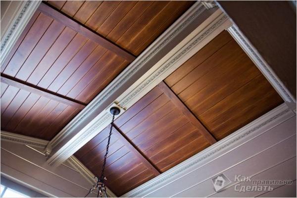Чем отделать потолок в доме - выбор потолочной отделки (+фото)