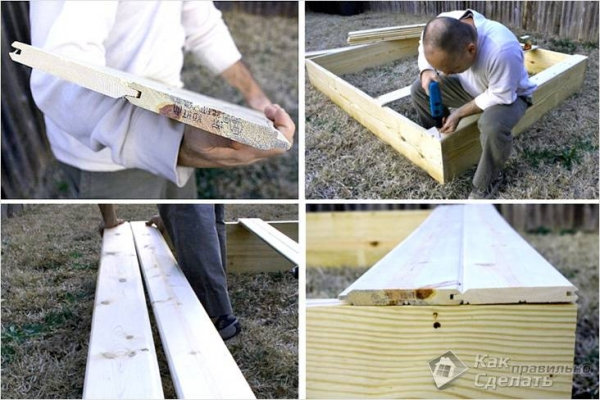 Как сделать детскую песочницу своими руками: фото, схемы, чертежи