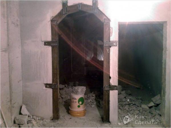 Как сделать проем в несущей стене - укрепление проема