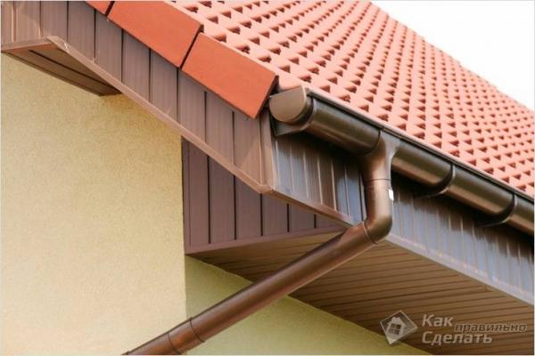 Как установить сливы на крышу - монтаж сливов