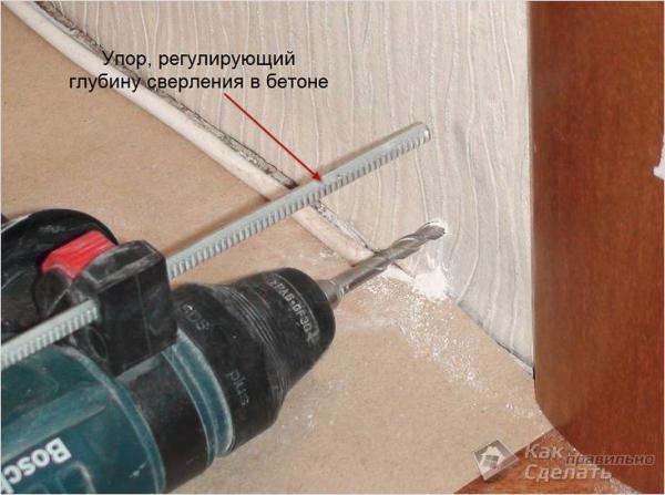 Как установить пластиковый плинтус на пол - с кабель каналом