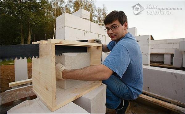 Дом из газоблока своими руками - технология строительства домов из газобетона + фото