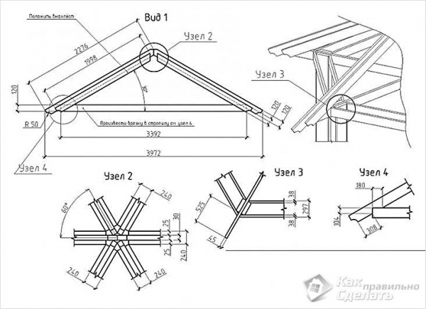 Как сделать шестигранную беседку из дерева - особенности возведения (+чертежи, фото)