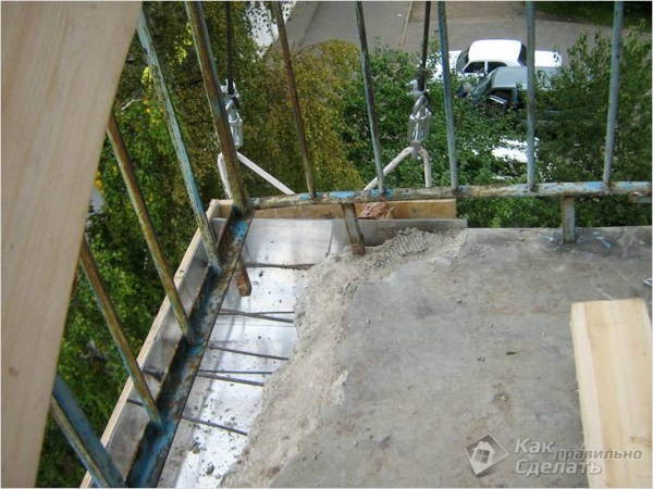 Как поднять пол на балконе своими руками - подъем пола на балконе