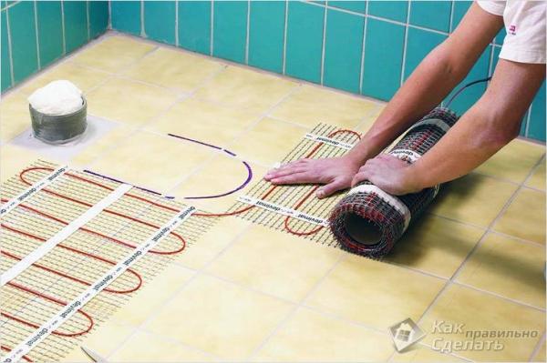 Как утеплить пол в ванной - теплый пол в ванной комнате