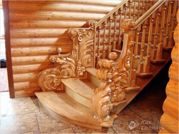 Как сделать перила для лестницы - ограждения из дерева и металла (+фото)