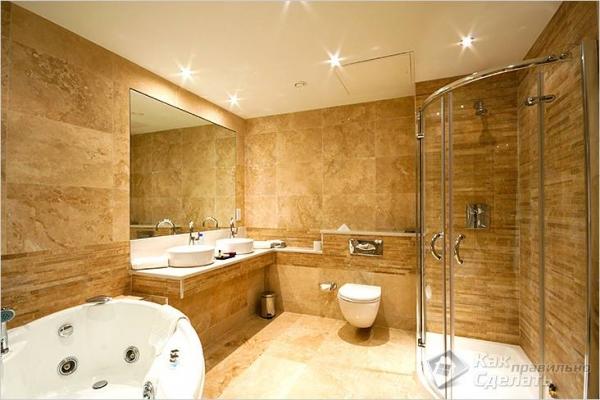 Как сделать подвесной потолок в ванной - монтаж подвесного потолка (+фото)