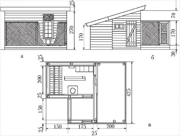 Как построить курятник своими руками - как сделать в домашних условиях (+фото, схемы)
