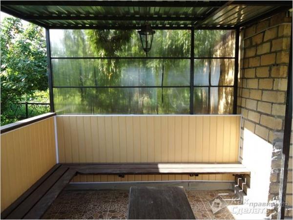 Как сделать веранду из поликарбоната - поликарбонат в строительстве веранды (+фото)