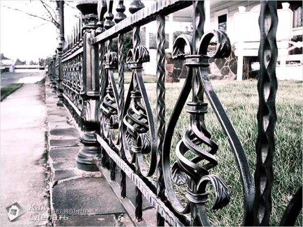 Как сделать кованый забор своими руками - изготовление кованого забора