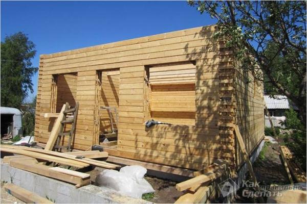Дом из бруса своими руками - как построить брусовой дом (+фото)