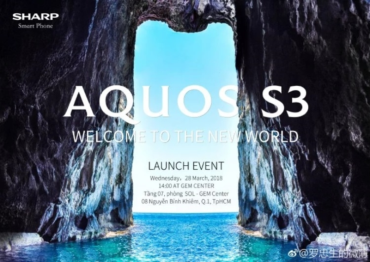 Анонс смартфона Sharp Aquos S3 с вырезом в стиле iPhone X состоится 28 марта»
