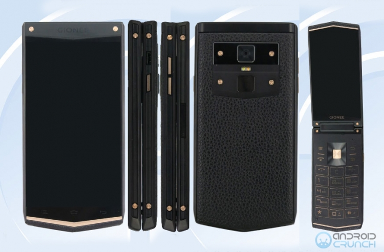 Прототип «смартфона-раскладушки» Gionee W919 попал в объектив инсайдеров»