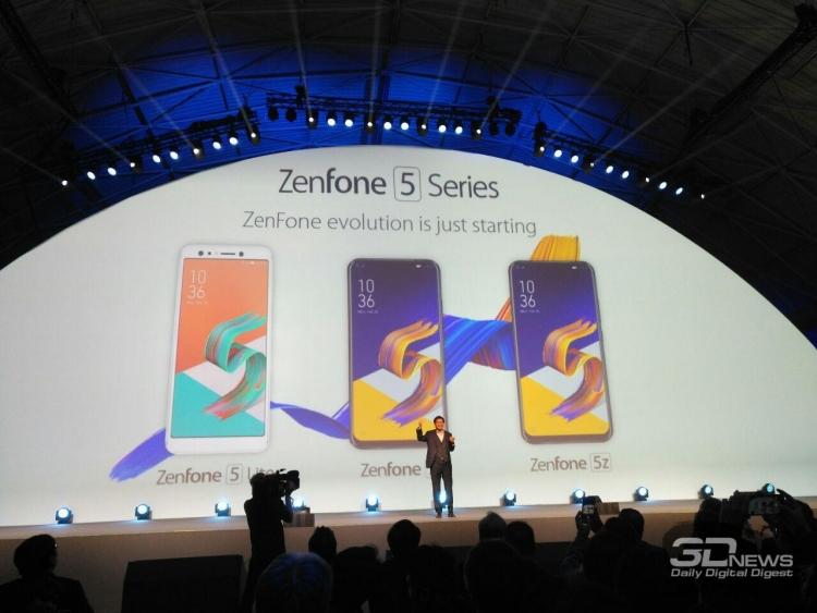 MWC 2018: хет-трик от ASUS — смартфоны Zenfone 5 Lite,  Zenfone 5 и  Zenfone 5Z»